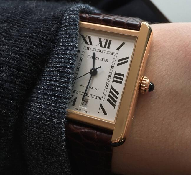 Replica Cartier Tank Solo XL Rose Gold Automatic Hands-on Review