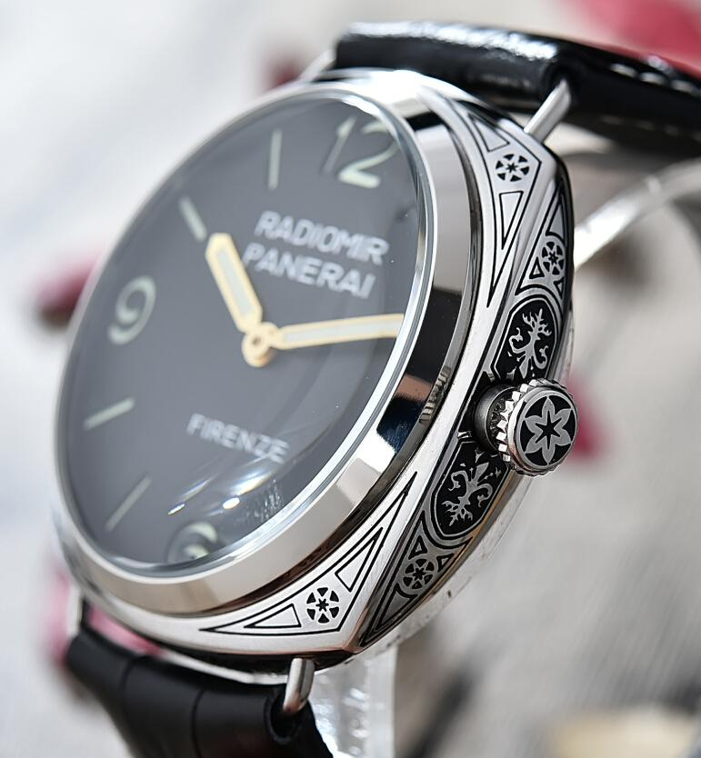 Replica Panerai Radiomir Firenze 3 Days Acciaio Engraved Watch PAM604 Review