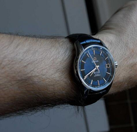 Replica Omega De Ville Hour Vision Blue Orbis Watch Review