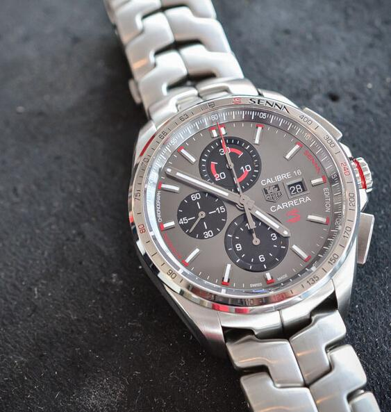 Replica TAG Heuer Carrera Calibre 16 Senna stainless steel