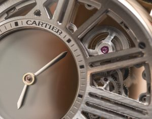 Replica Cartier Rotonde De Cartier Mysterious Hour Skeleton Watch
