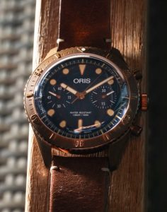 Limited Edition Replica Oris Carl Brashear Chronograph Bronze Watch For 2018 New Year