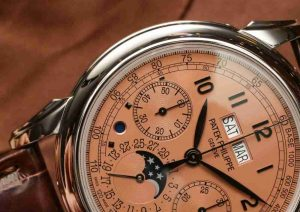 Black Gold Replica Patek Philippe Perpetual Calendar 5270P Salmon Dial Platinum 41mm Watch Review