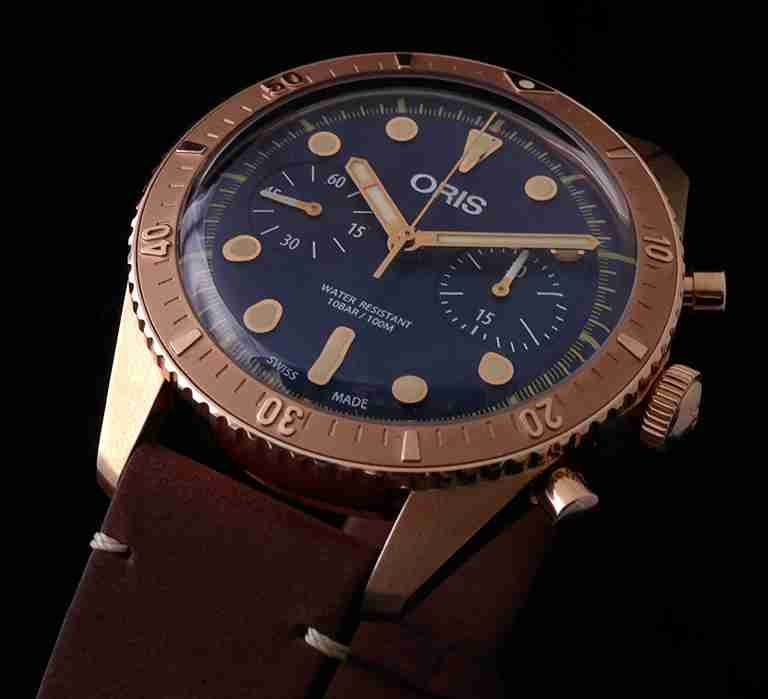 Limited Edition Swiss Oris Carl Brashear Automatic Chronograph Bronze Diver 43mm Stainless Steel Replica Watch Review