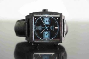 Special Edition Swiss Replica TAG Heuer Monaco Bamford Chronograph Black Carbon 39mm Case Watches Review