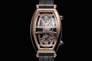 Best Cartier Privé Tonneau XL Skeleton Dual Time And Cartier Privé Tonneau Replica Watches For 2019 New Year