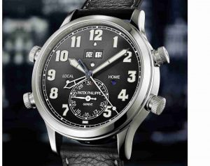 2019 March Limited Edition Patek Philippe Alarm Travel Time Automatic Black Dial Platinum 5520P-001 Replica Watches