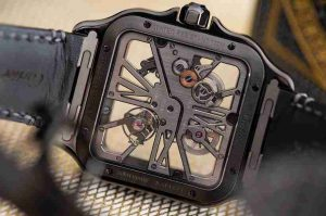 Introducing The Swiss Cartier Santos Skeleton ADLC Luminescent Noctambule Replica