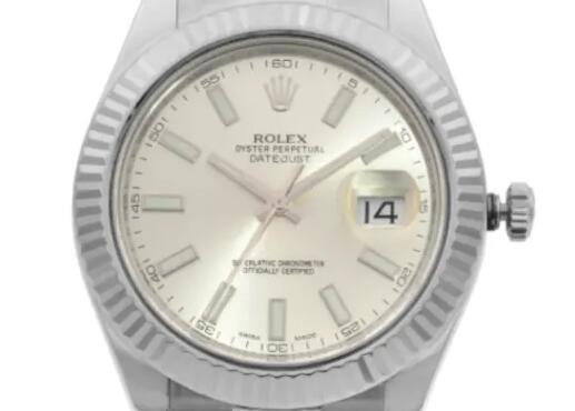 Discussing The Replica Rolex Datejust II steel 18k white gold automatic Watch 3