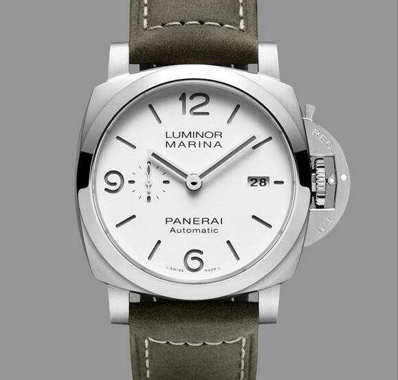 Replica Panerai Luminor Marina White Sandwich Stainless Steel 44mm PAM01314 Review 1