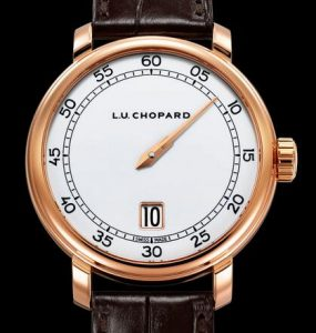Limited Edition Replica Chopard L.U.C Eight-Day Jump Hour 18k Rose Gold 40mm Watch 1
