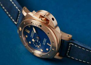 Replica Panerai Submersible Blu Abisso Blue Matte Dial Bronzo 42mm Watch Review 1