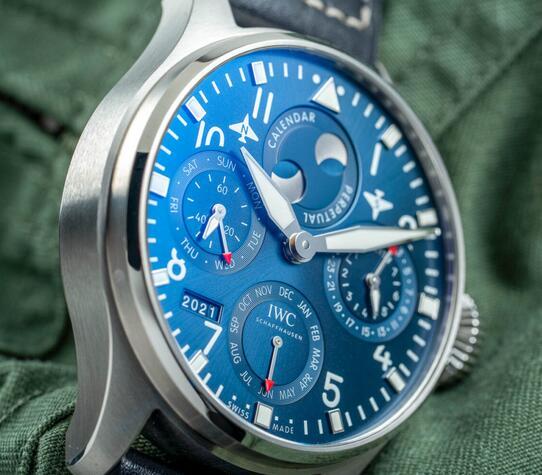 Replica IWC Big Pilot Self-Winding Perpetual Calendar Steel IW503605 Watch Guide 3