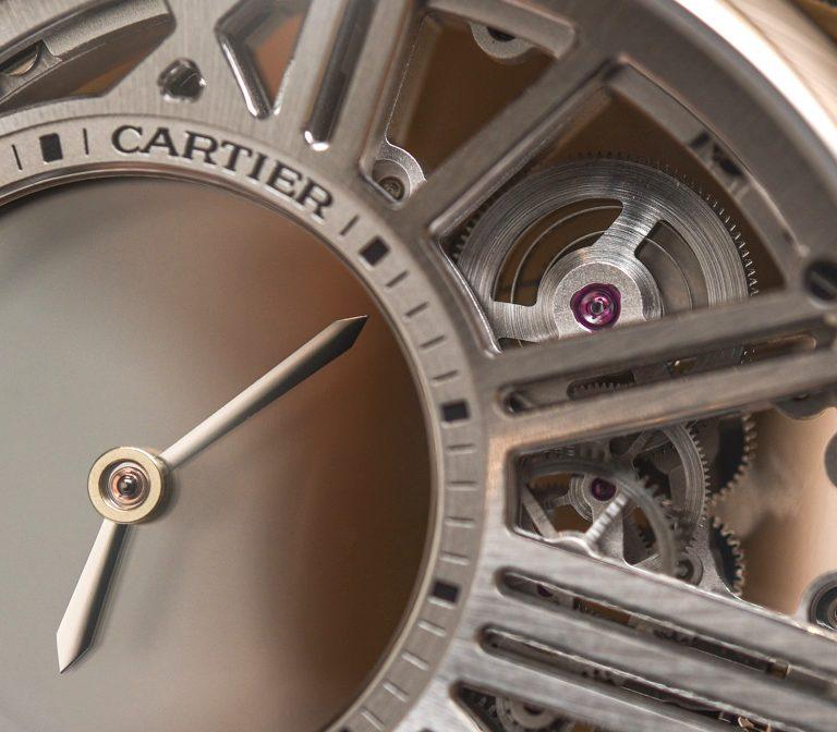 Replica Cartier Rotonde De Cartier Mysterious Hour Skeleton Watch