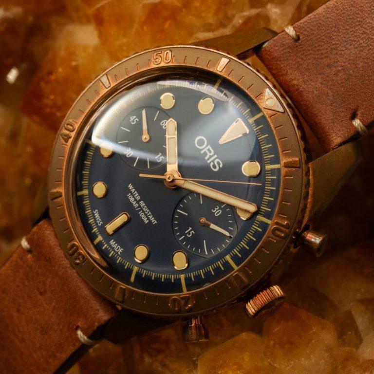 Limited Edition Replica Oris Carl Brashear Chronograph Bronze Watch For 2018 New Year
