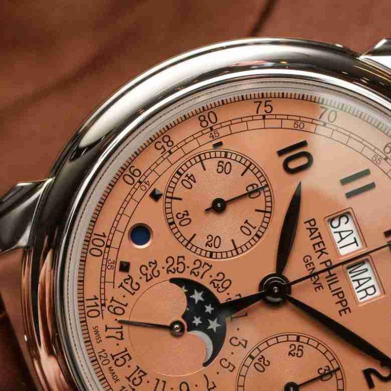 Black Gold Replica Patek Philippe Perpetual Calendar 5270P Salmon Dial Platinum 41mm Watch Review