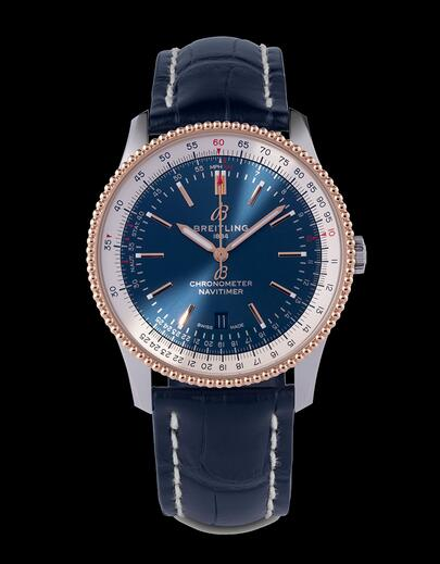 Description of Breitling Navitimer Automatic 41 Steel With 18k red gold Southeast Asia Edition Watch