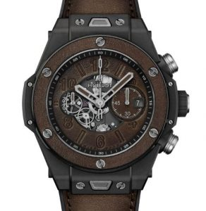 Replica Hublot Big Bang Unico Berluti Cold Brown Ceramic Watch Introducing 1