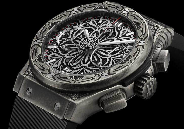 Limited Edition Replica Hublot Classic Fusion Chronograph Shepard Fairey Watch Review 1