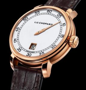 Limited Edition Replica Chopard L.U.C Eight-Day Jump Hour 18k Rose Gold 40mm Watch 3
